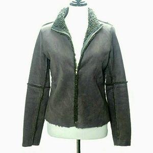 Velvet by Graham and spender fuzzy jacket size S